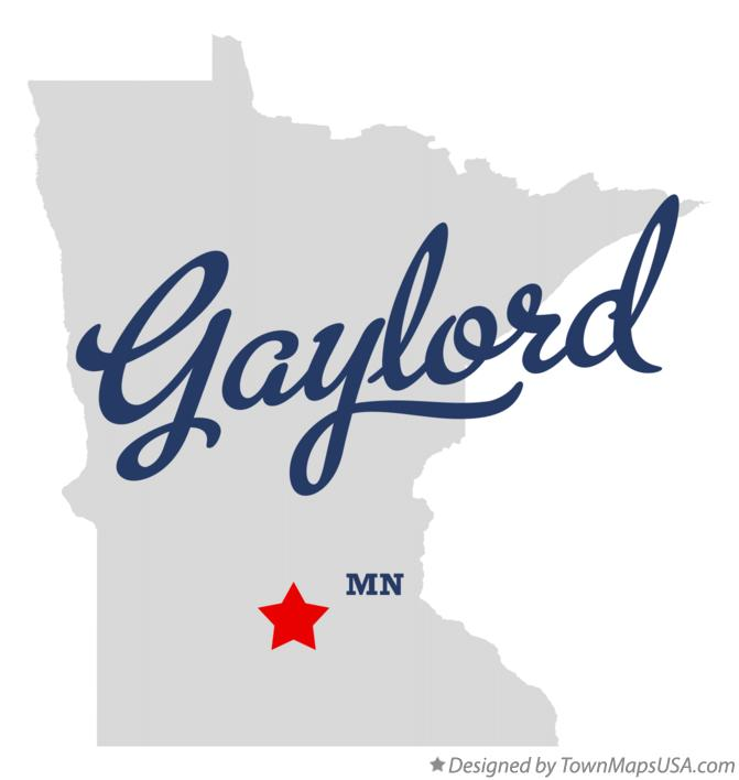 Map of Gaylord Minnesota MN