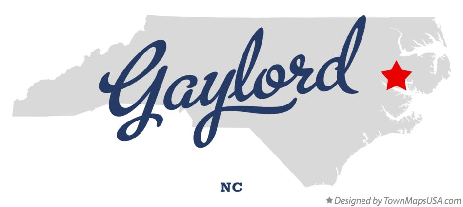Map of Gaylord North Carolina NC