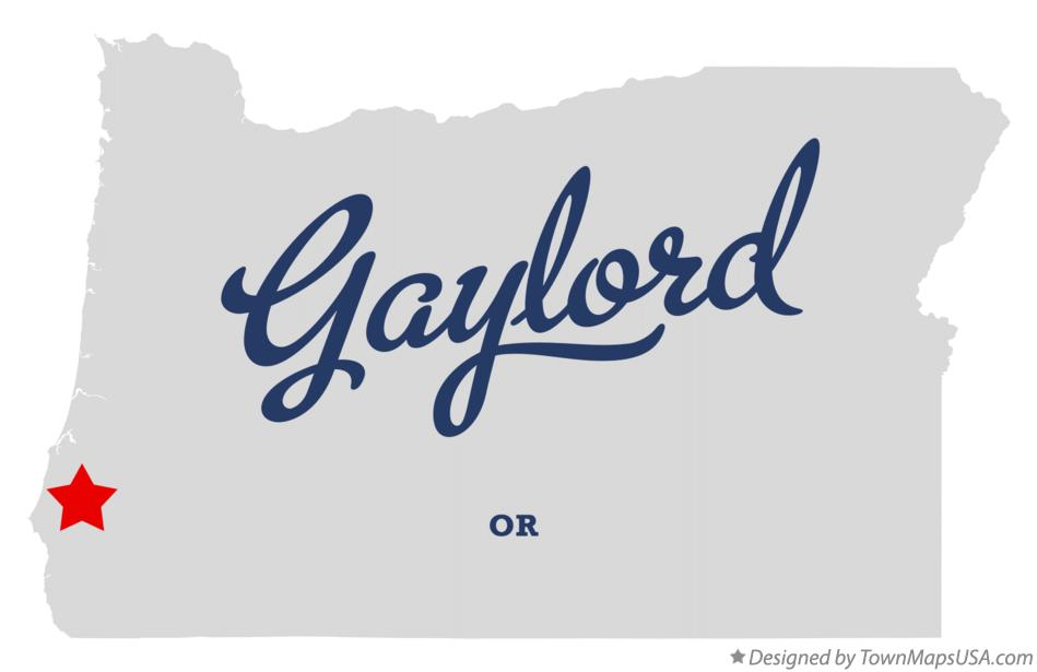 Map of Gaylord Oregon OR
