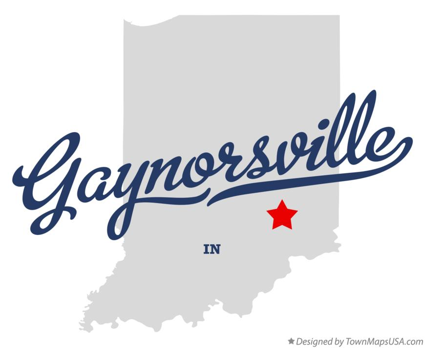 Map of Gaynorsville Indiana IN