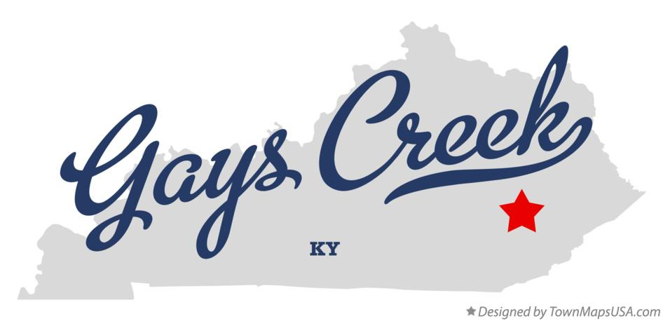 Map of Gays Creek Kentucky KY