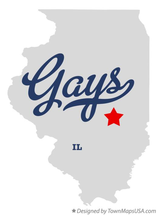 Map of Gays Illinois IL