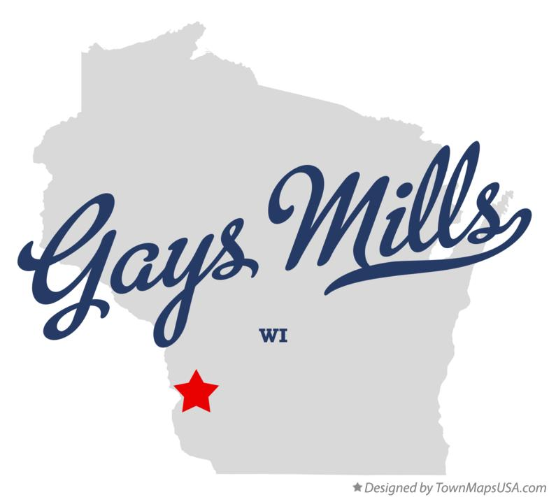 Map of Gays Mills Wisconsin WI