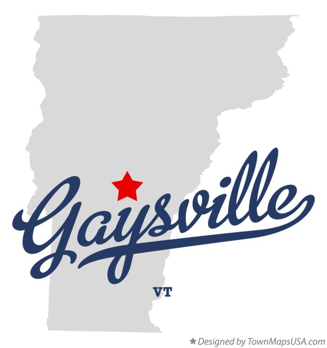 Map of Gaysville Vermont VT