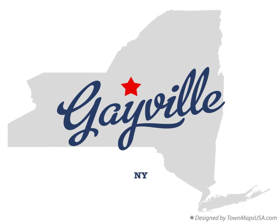 Map of Gayville New York NY