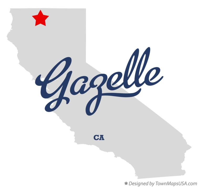 Map of Gazelle California CA