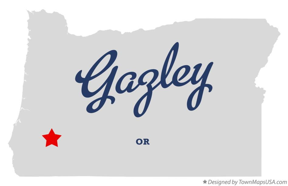 Map of Gazley Oregon OR