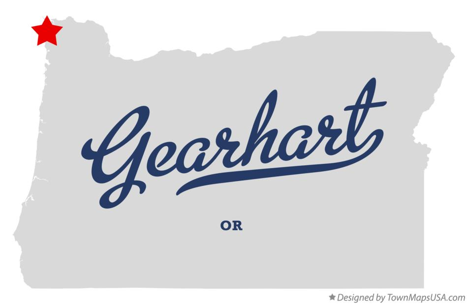 Map of Gearhart Oregon OR