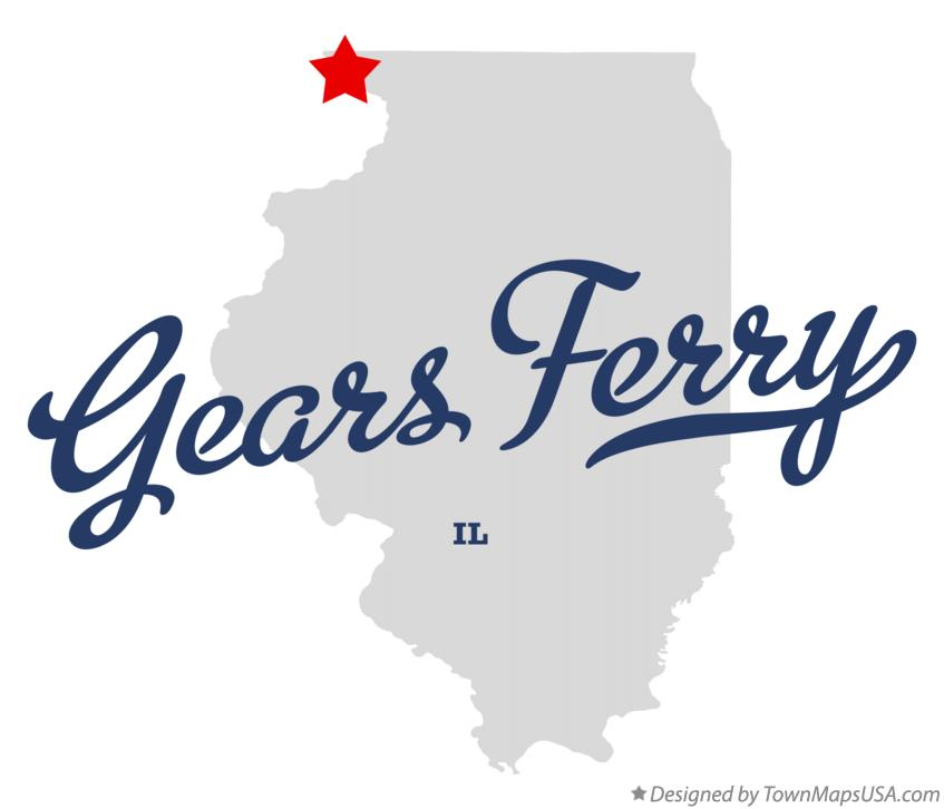 Map of Gears Ferry Illinois IL