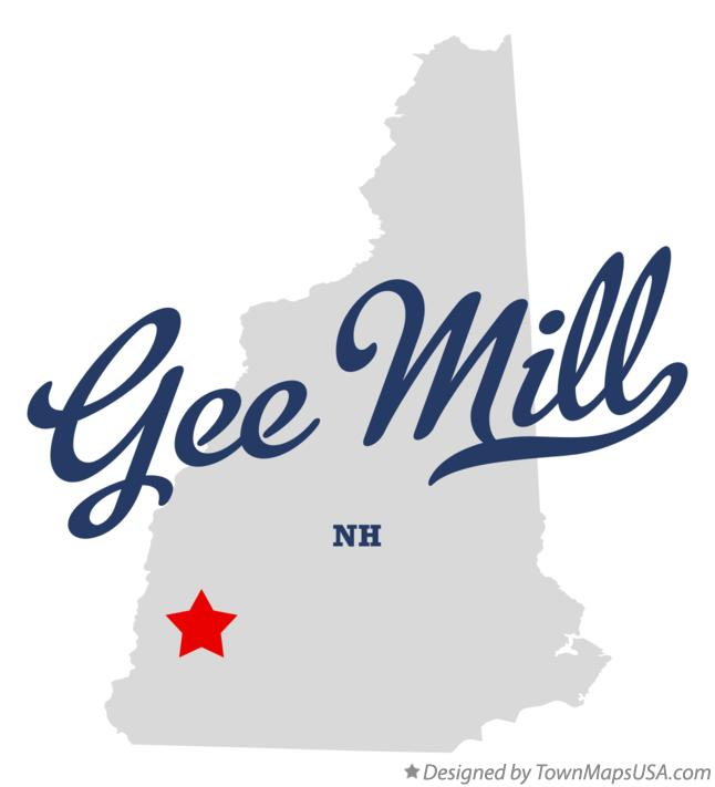 Map of Gee Mill New Hampshire NH