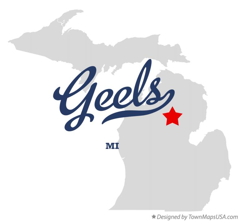 Map of Geels Michigan MI