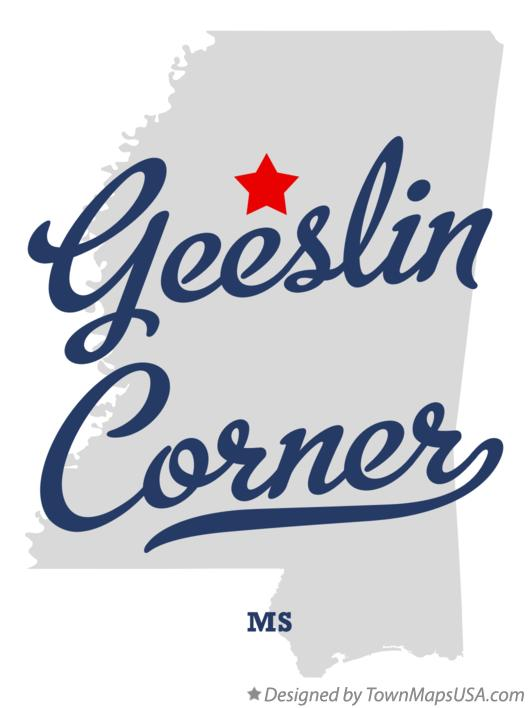Map of Geeslin Corner Mississippi MS