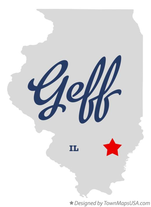 Map of Geff Illinois IL