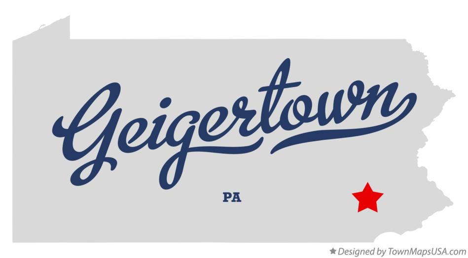 Map of Geigertown Pennsylvania PA