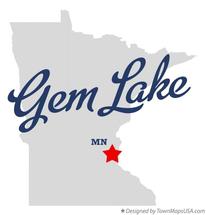 Map of Gem Lake Minnesota MN