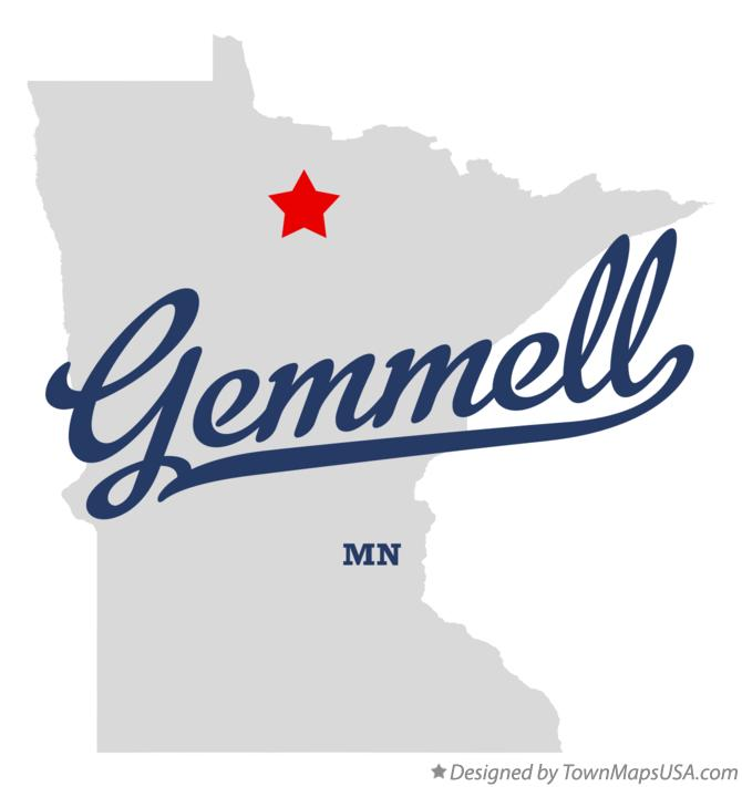 Map of Gemmell Minnesota MN