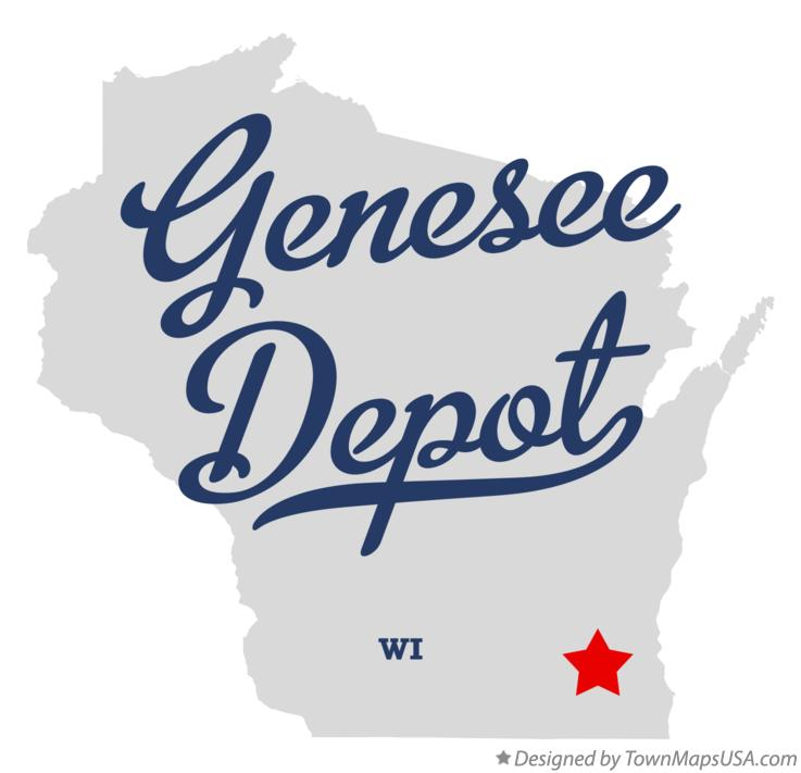 Map of Genesee Depot Wisconsin WI