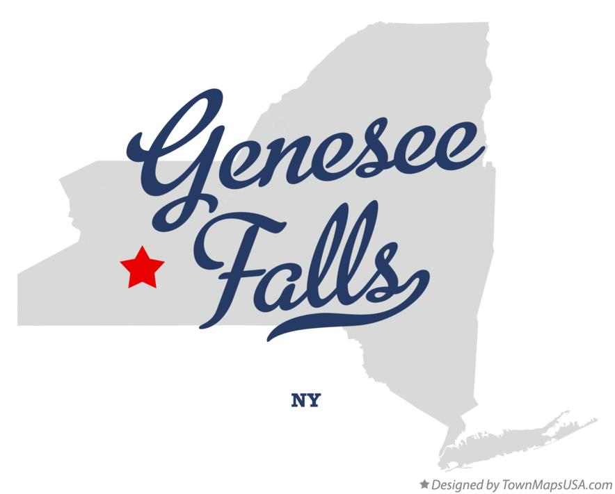 Map of Genesee Falls New York NY