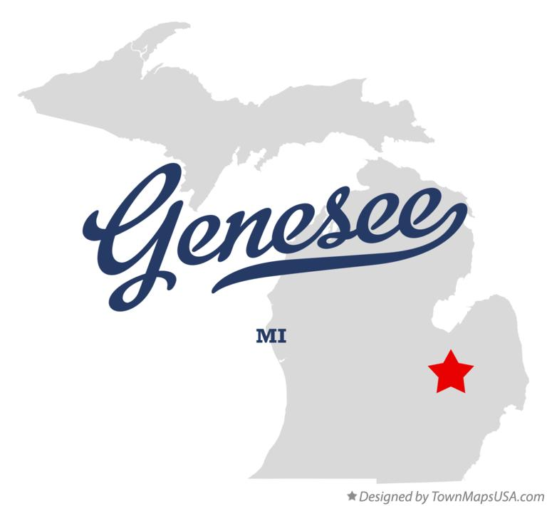 Map of Genesee Michigan MI