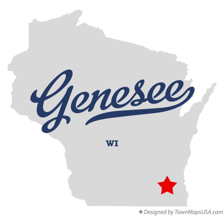 Map of Genesee Wisconsin WI