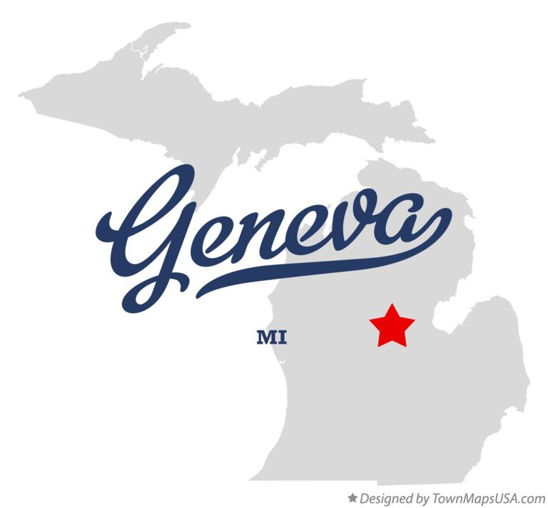 Map of Geneva Michigan MI