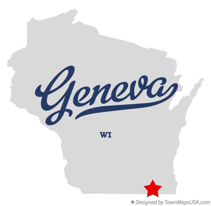 Map of Geneva Wisconsin WI