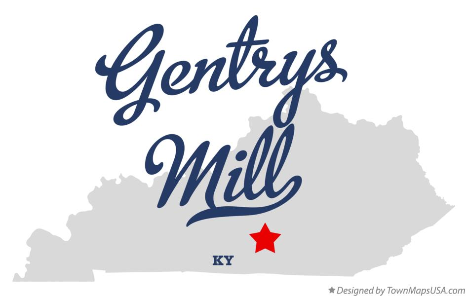 Map of Gentrys Mill Kentucky KY