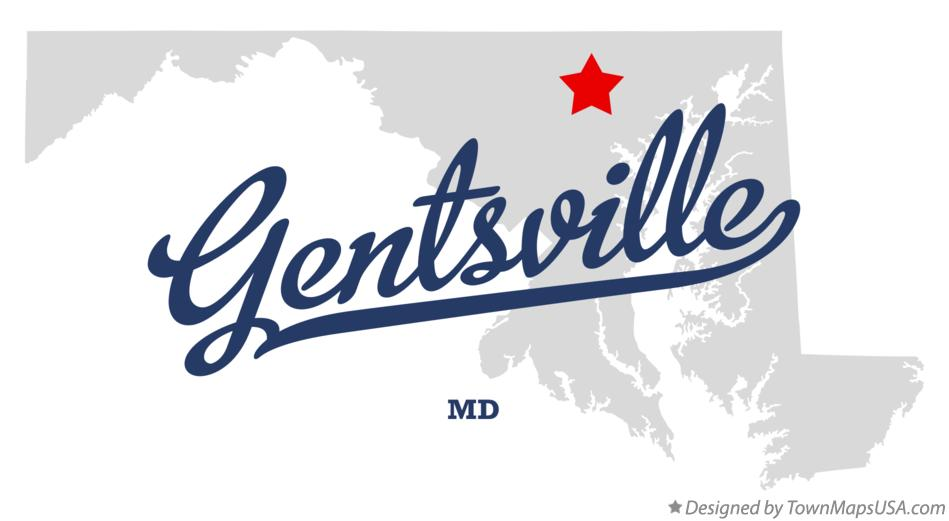 Map of Gentsville Maryland MD