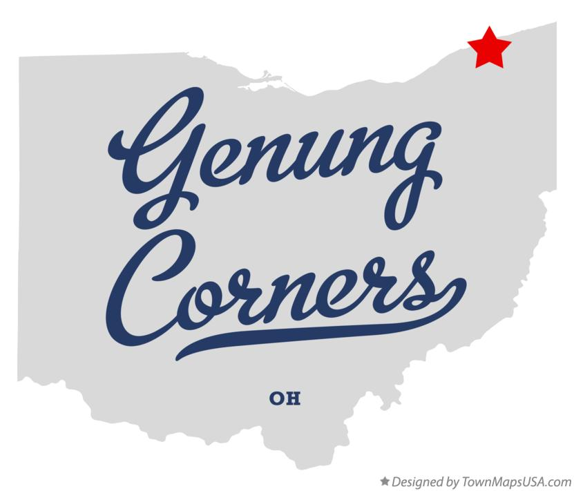 Map of Genung Corners Ohio OH