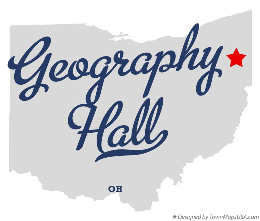 Map of Geography Hall Ohio OH