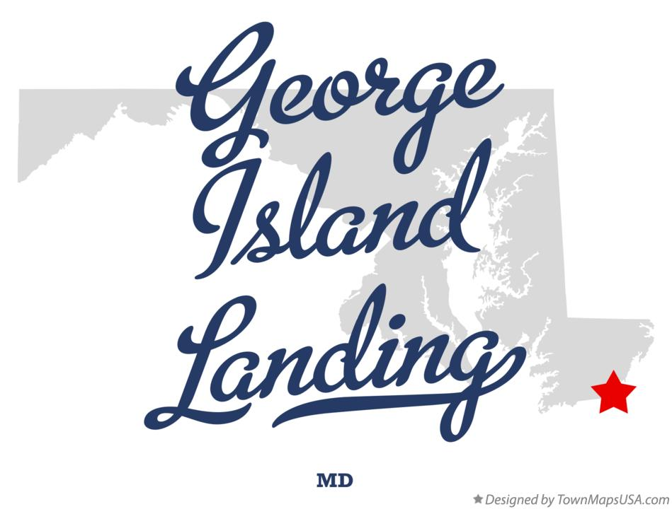 Map of George Island Landing Maryland MD