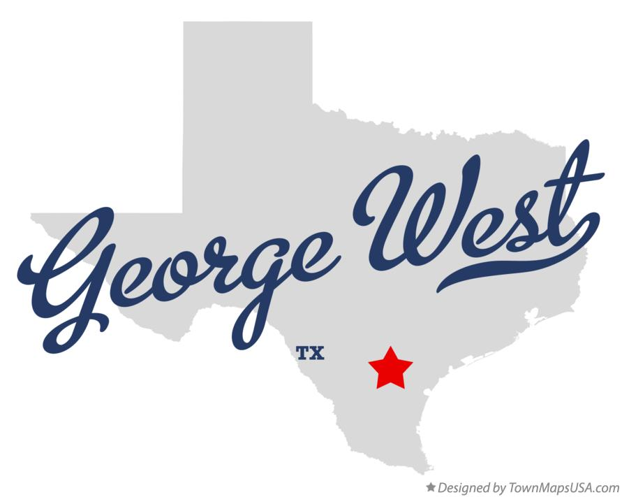 Map of George West Texas TX