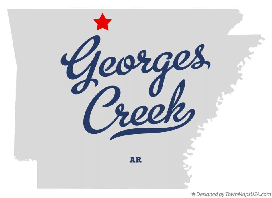 Map of Georges Creek Arkansas AR