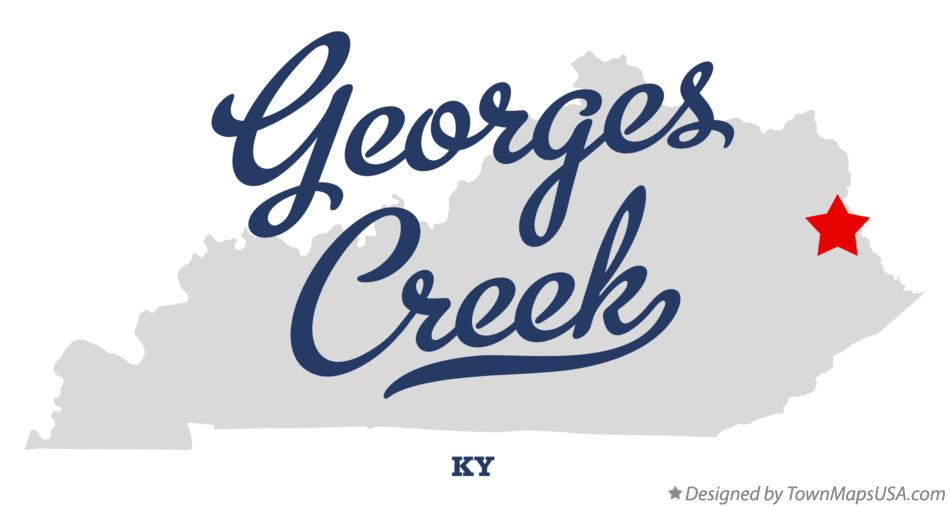 Map of Georges Creek Kentucky KY