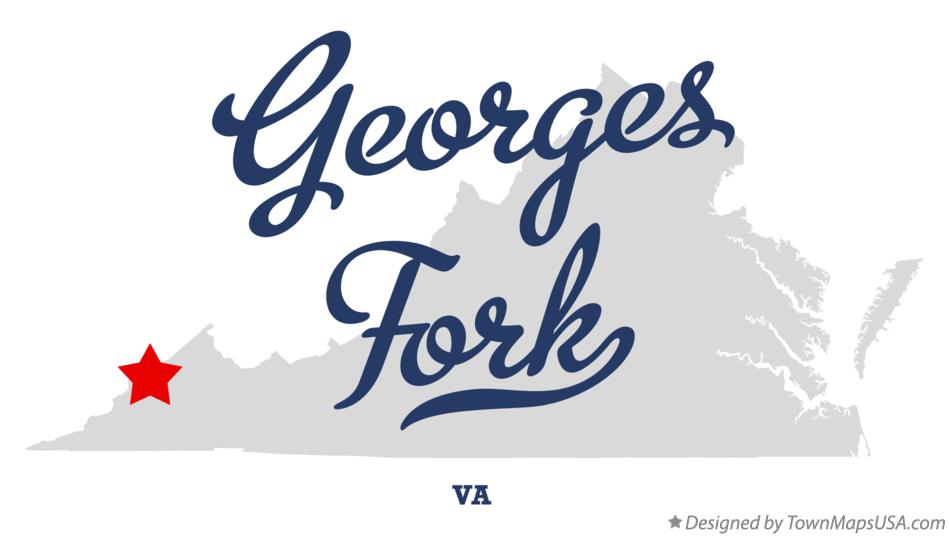 Map of Georges Fork Virginia VA