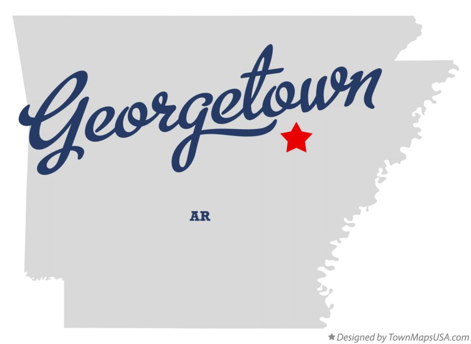 Map of Georgetown Arkansas AR