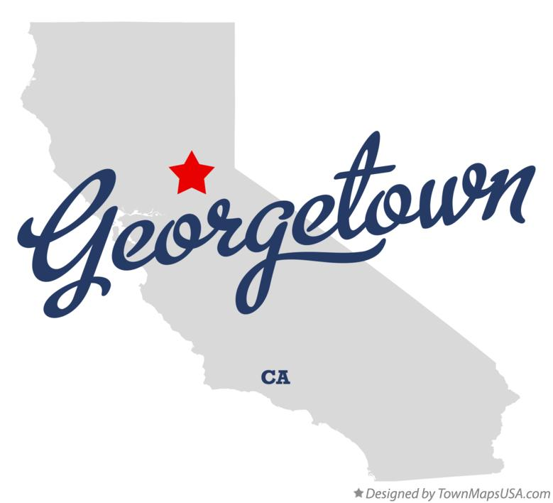 Map of Georgetown California CA