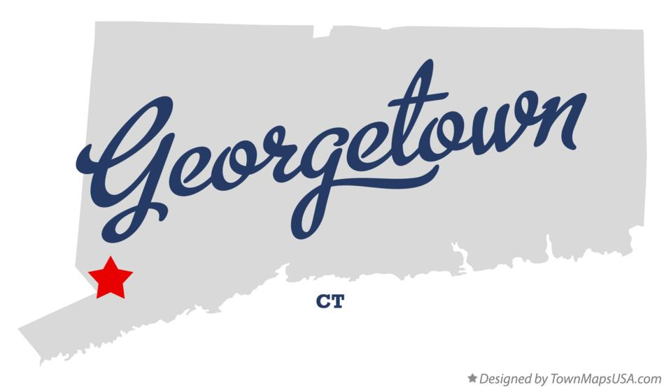 Map of Georgetown Connecticut CT
