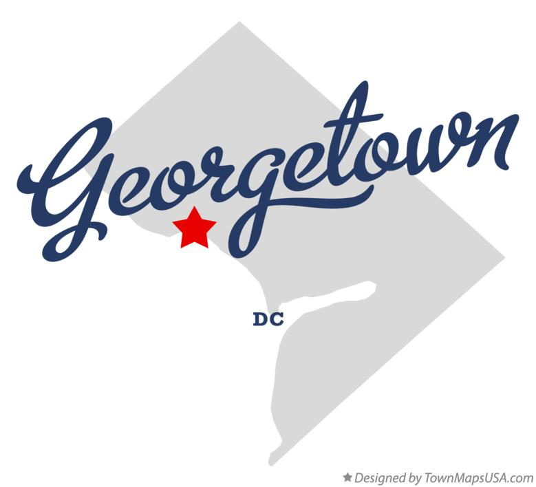 Map of Georgetown District Of Columbia DC
