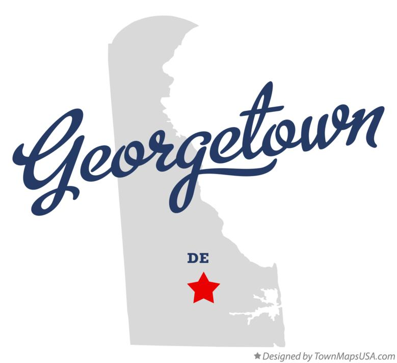 Map of Georgetown Delaware DE
