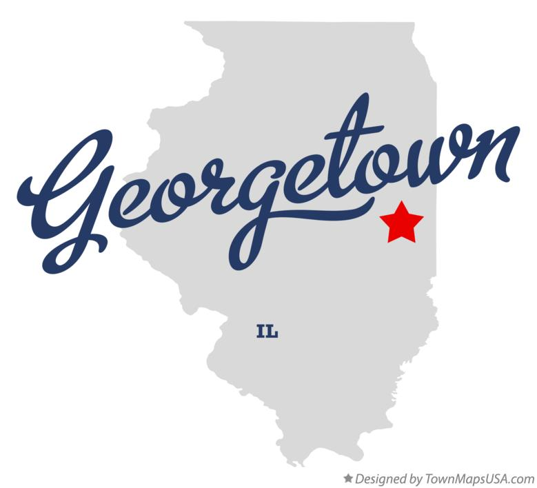 Map of Georgetown Illinois IL