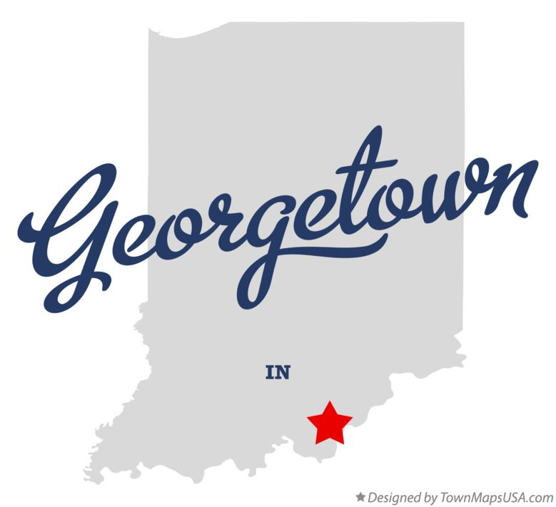 Map of Georgetown Indiana IN