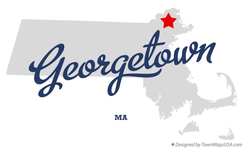 Map of Georgetown Massachusetts MA