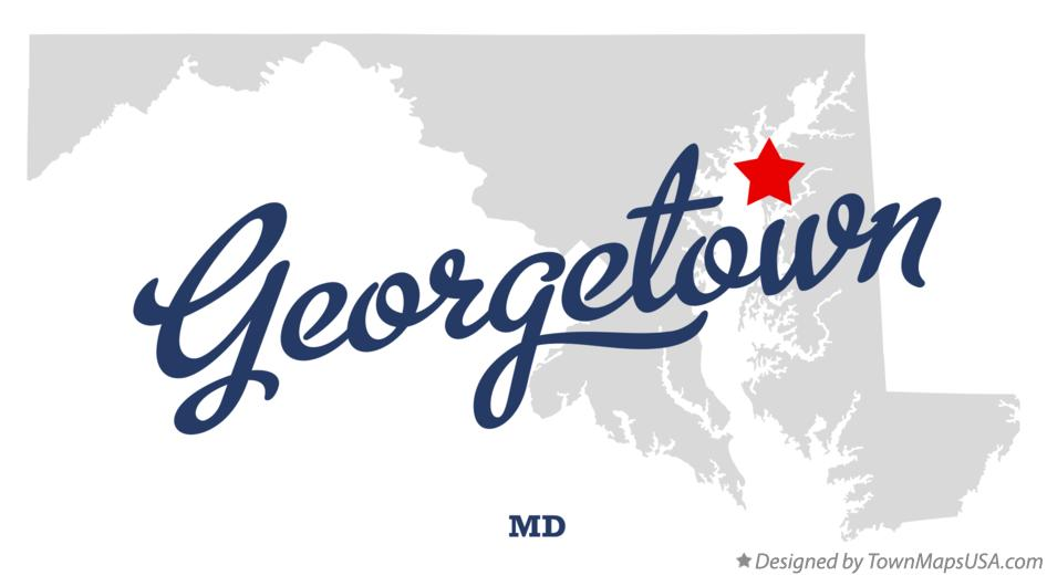 Map of Georgetown Maryland MD