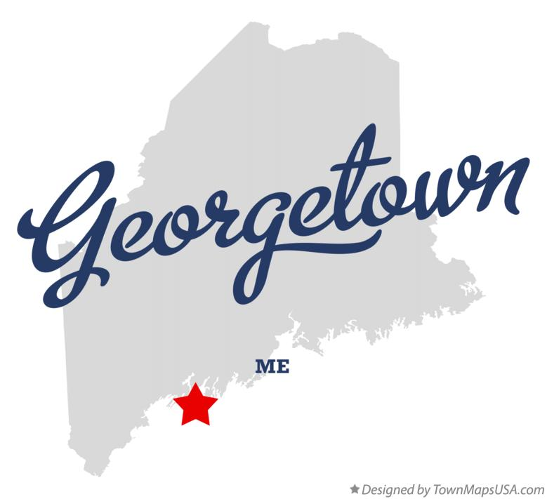 Map of Georgetown Maine ME