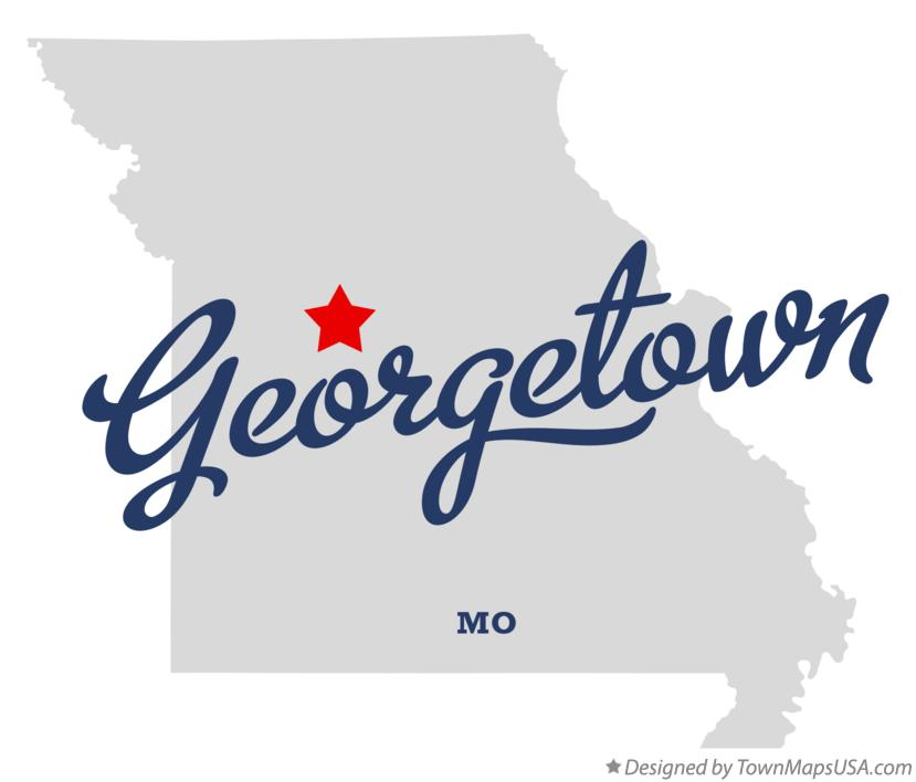 Map of Georgetown Missouri MO