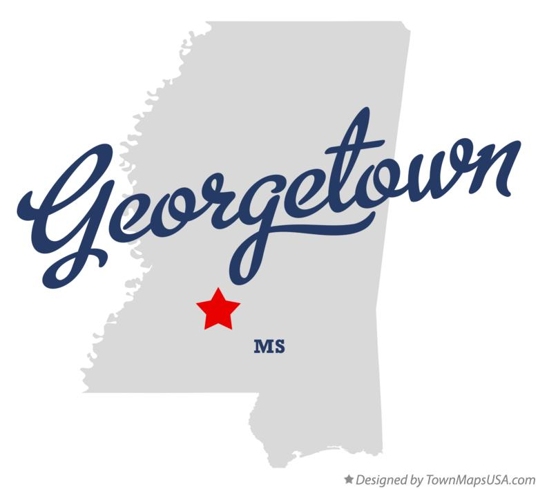 Map of Georgetown Mississippi MS