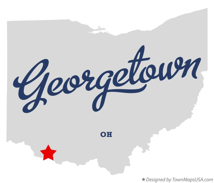 Map of Georgetown Ohio OH