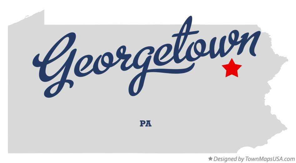 Map of Georgetown Pennsylvania PA