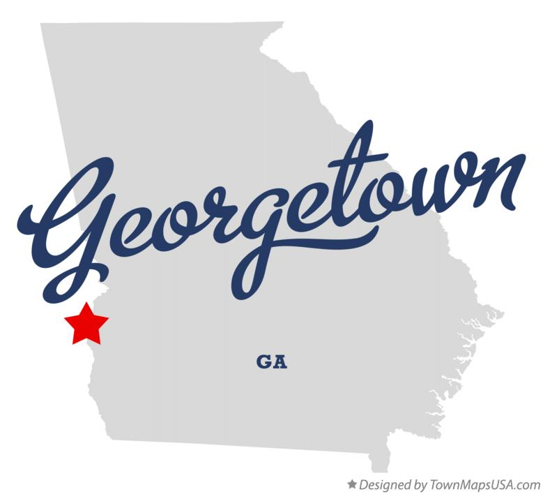 Map of Georgetown Georgia GA